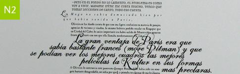Tipografía y combinaciones.